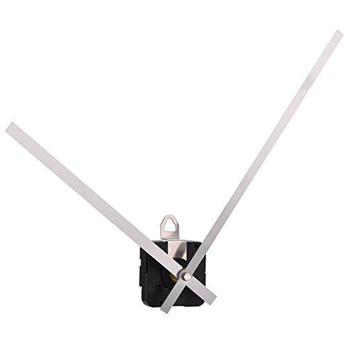 Lange Welle mit hohem Drehmoment Uhrwerk Mechanismus mit Langen geraden Händen 250 mm/ 9,8 Zoll (Silber) -