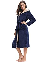2b6aca58ea Amazon.co.uk  Blue - Dressing Gowns   Nightwear  Clothing
