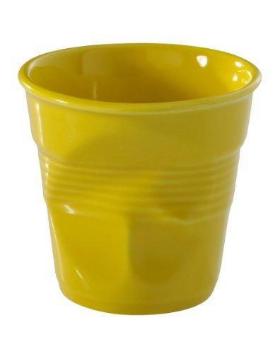 Revol Froisses 639294 Cappuccino Crumple Tumbler, Seychelles Yellow by Revol