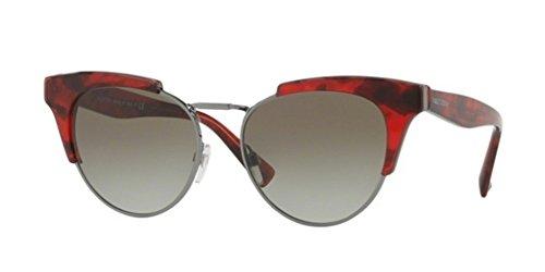Valentino Damen 0VA4026 50208E 53 Sonnenbrille, Rot (Red Havana/Greengradient),
