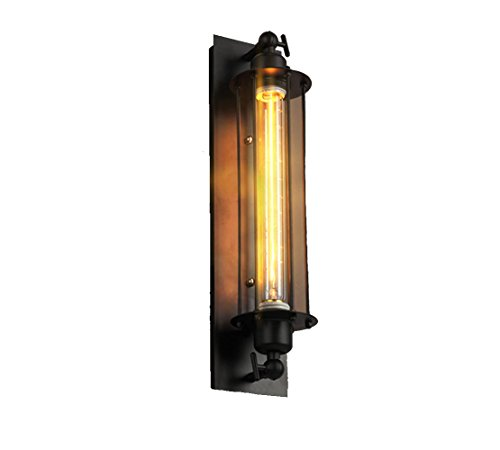 Erwa Dorf-Industrielle Weinlese-Flöten-Wand-Lampen-Gang Beleuchtet Edison-Metallkäfig An Der Wand Befestigt - Base-klar, Gerät-glühbirne