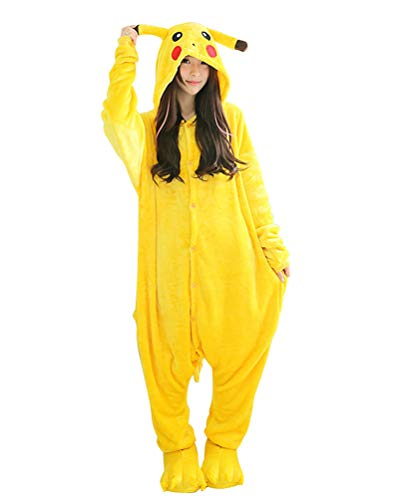 SMITHROAD unisex Jumpsuit Tier Karton Fasching Halloween Kostüm Sleepsuit Cosplay Fleece-allgemein Pyjama Schlafanzug Erwachsene Unisex Nachtwäsche (Uk Halloween Erwachsene Onesies)
