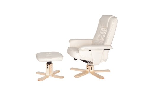 Amstyle Comfort Relaxsessel mit Hocker - 9
