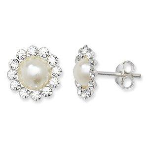 Unico Wishlist in argento Sterling di cristallo e bianco perla imitazione a grappolo * SE635A