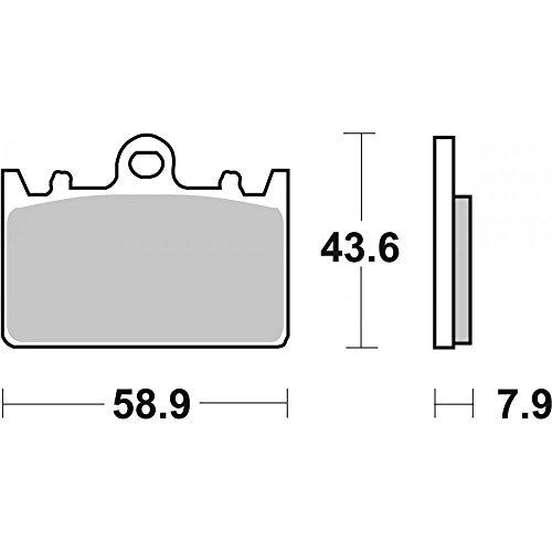 Sbs Pastiglie Freno Anteriore Dx-sx Per Kawasaki Zxr-zx4r Ninja Zx400j-l-m 91/02 666rs Sport E Track Sinter
