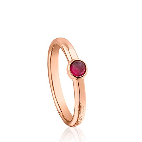 Anillo Super Power de Plata Vermeil rosa con...