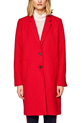 ESPRIT Damen 019EE1G022 Mantel, per Pack Rot (RED 630), Small (Herstellergröße: S)