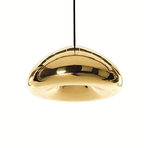 LIGHT BYJUM LED Pendelleuchte Glas Modern Küchen Deckenleuchte Wohnzimmer Designleuchte Deckenlampe Schlafzimmer Höhenverstellbar,Gold,smalle