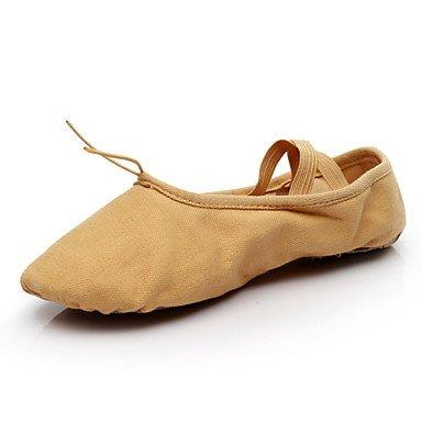 Ruhe @ Damen Dance Schuhe Segeltuch Ballerinas flach Ferse Professional/innen andere Camel