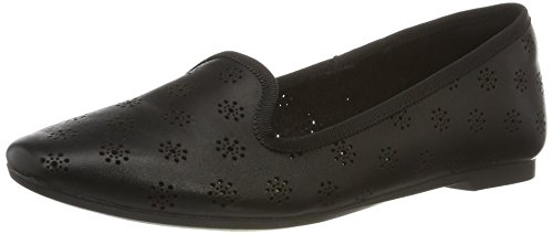 Clarks Damen Chia Moon Slipper, Schwarz (Blk Interest Lea), 36 EU