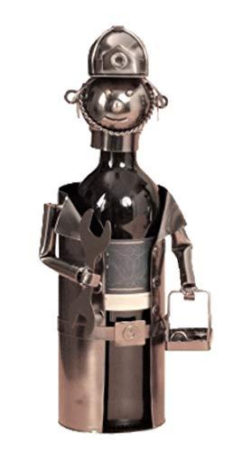 Flaschenhalter Arbeiter Metall Flaschenständer Weinflaschenhalter Metallständer Handwerker