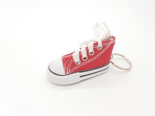Sneaker Baby Kinder süßer kleiner Schuh Schlüsselanhänger Anhänger rot