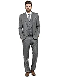 LUXURAZI Men S Raymond Graceful Shade of Dark Grey Formal 3-Piece Suit 6708a2d78a5e