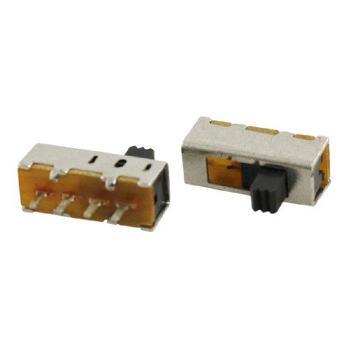 5PCS X PCB 4Pin ON/ON/ON 3Position SP3T 1P3T Mini Schiebeschalter 0.5A 50V DC