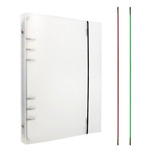 Zhi Jin 1transparent Notebook rund Ring Binder Cover Protector Loose Leaf Ordner mit Elastic...