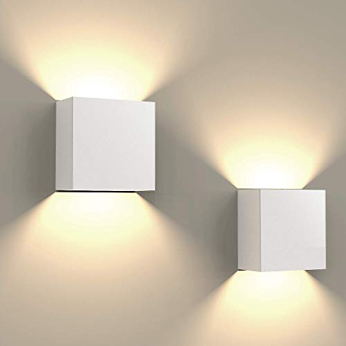 FUSSEN 2Pcs Moderno Lampara de Pared LED Decorativo Arriba Abajo Luces de...