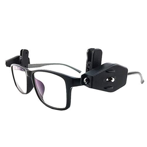 TAOtTAO Outdoor Angelscheinwerfer Leselicht Detektionsbrille Licht Mini LED Taschenlampe Brille Licht tragbare Outdoor Notlicht Lesung 2St