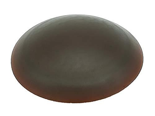 10 Stück Türpuffer 40 mm versch. Farben für Wand oder Boden selbstkleben oder zum Schrauben (Braun)