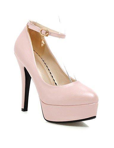 WSS 2016 Chaussures Femme-Bureau & Travail / Habillé / Décontracté-Noir / Bleu / Rose / Blanc-Gros Talon-Talons / A Plateau-Chaussures à Talons- black-us4-4.5 / eu34 / uk2-2.5 / cn33