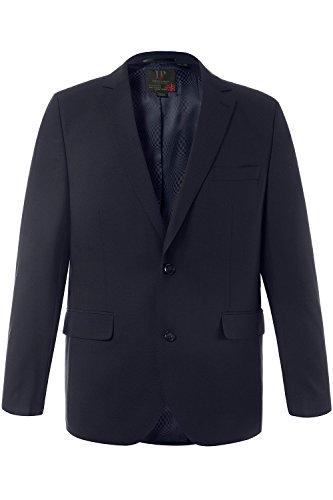 Navy Zwei-knopf-blazer-jacke (JP 1880 Herren große Größen bis 70 | Sakko | Anzug-Jacke in schwarz & blau | Blazer mit 2-Knopf Verschluss | Schnurwoll-Qualität | Gehschlitz | navy 58 705512 70-58)