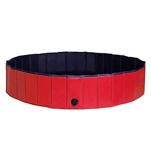 dibea faltbarer Hundepool aus PVC, Schwimmbecken für H… | 04260372762975