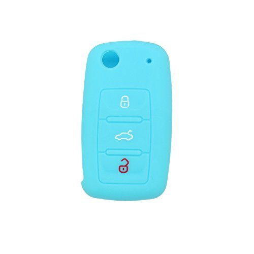 fassport-silicone-cover-skin-jacket-for-volkswagen-skoda-seat-3-button-flip-remote-key-cv2802-light-