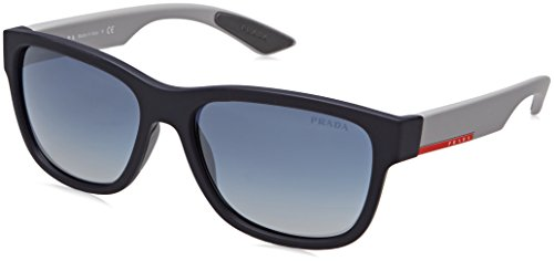 Prada Sport Herren 0PS03QS UR73A0 57 Sonnenbrille, Blau (Bluette Rubber/Light Grey Blue),