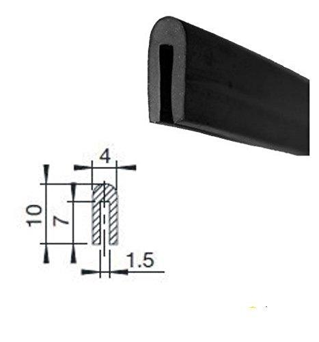 Eutras Kantenschutz KSO4006 Lichtgrau 2,0 mm PVC Kederband Keder Meterware