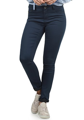 DESIRES Lala Damen Jeans Denim Hose Röhrenjeans Stretch Skinny Fit, Größe:W30/30, Farbe:Insignia Blue (1991) (Bootcut Denim Jeans Faded)
