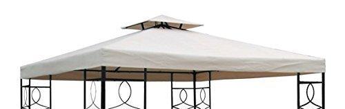 Gravidus Pavillon Ersatzdach Pavillondach mit Kaminabzug wasserabweisend 3 x 3 m (beige)