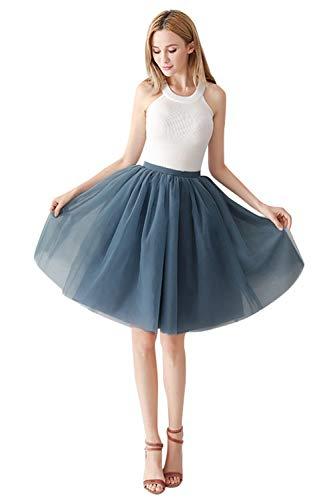 Mädchen Kostüm Jahre 1950er - MisShow Damen Mädchen Kurz Retro Petticoat Rock 1950er Vintage Tutu Ballett Unterkleid Grau A