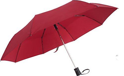 Urbane Kompakte Reise Hohe Wind- und Wasserdicht und Regenschirm mit Praktische Auto Offene Mechanik, 106,7cm Himmel Deckung Wasserabweisend und Schnell Trocknend, Rot -