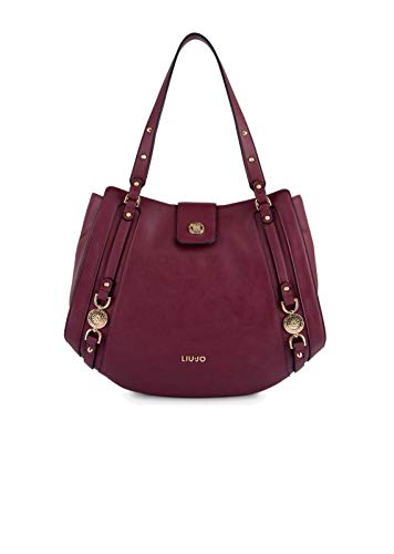 BORSA SHOPPING LIU-JO IT'S ME 3 COMPARTI ECOPELLE COL. RUBY WINE DONNA BS19LJ05