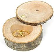 Coussin d'alliances, porte alliances, boîte à alliances fait main en bois massif naturel