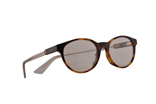 Gucci GG0487OA Brillen 49-17-150 Havana Braun Mit Demonstrationsgläsern 003 GG 0487OA