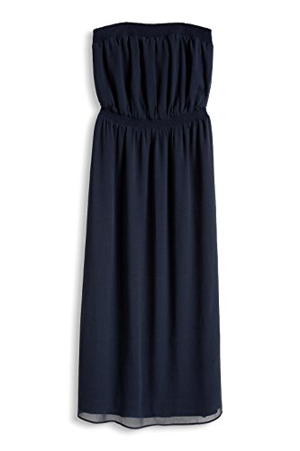 edc by Esprit 056cc1e008-Schulterfrei, Robe Femme Bleu (NAVY 400)