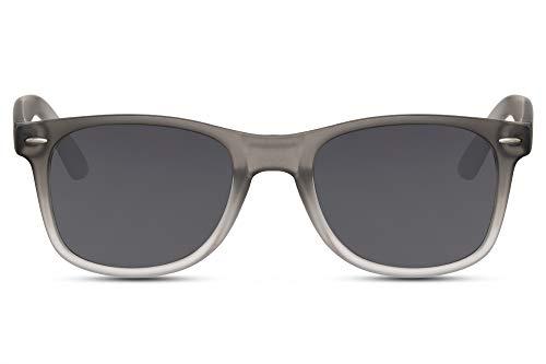 Cheapass Sonnenbrille Matt-Grau Recht-Eckig Klassisch Getönt Verlaufsglas UV-400 Plastik Damen Herren