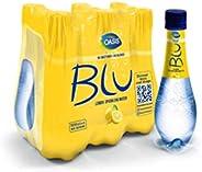 Oasis Blu Sparkling Lemon Water, 6 x 500 ml
