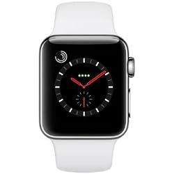 Apple Watch Series 3 OLED GPS (satélite) Móvil Acero Inoxidable Reloj Inteligente - Relojes Inteligentes (OLED, Pantalla táctil, GPS (satélite), Móvil, 42,4 g, Acero Inoxidable)