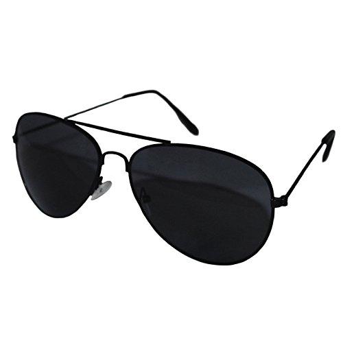 Schwarz Rahmen Schwarz Objektiv Top Gun Aviator Stil Sonnenbrille Unisex verspiegelt Wayfarer Fashion Shades Elegant