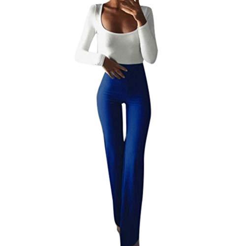 SuperSU Frauen Fashion Solid Elastizität Leggings Schlaghosen Damen Lange Stretch Hose im Marlene-Stil Sexy Kick Flare Bootcut Hosen Mode Casual Schmeichelhaft Ausgestellte Jeans