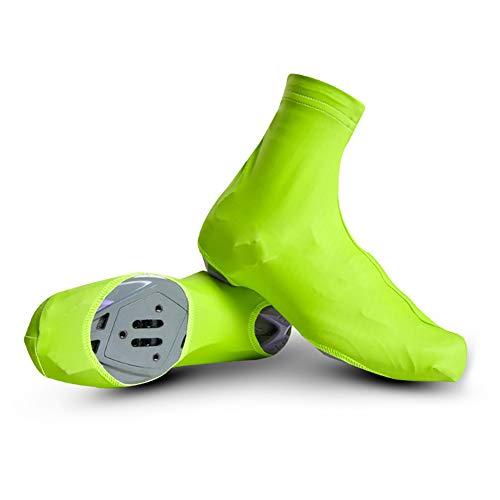 Outtybrave Fahrradschuhüberzüge, wasserdicht, für Mountainbikes, Rennrad, grün, L -
