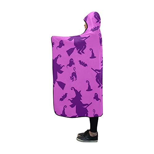 ecke abstrakt Halloween Mädchen Jungen Decke 60 x 50 Zoll Comfotable mit Kapuze werfen Wrap ()