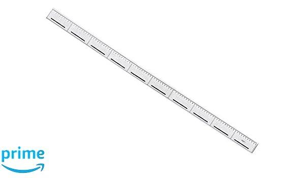 Graphoplex Cutting Ruler Non-Slip Steel Square Edge 100 cm Transparent
