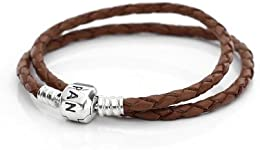 pandora lederarmband 3 fach braun