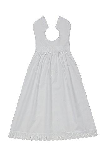 Taufaufleger bestickt Baumwolle, Schriftfarbe weiß. Festliche Taufkleidung für Jungen und Mädchen