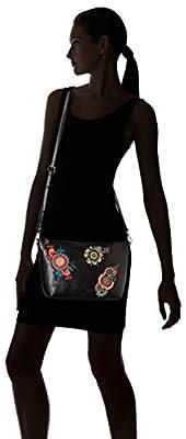 Desigual Bols_delilah Catania femme Sacs bandoulière Noir (Negro) 10.5x20x24.5 cm (B x H x T)