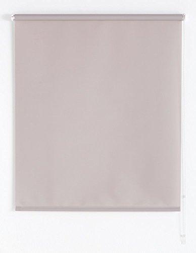 Blindecor Ara - Estor enrollable translúcido liso, 160 x 175 cm, color gris