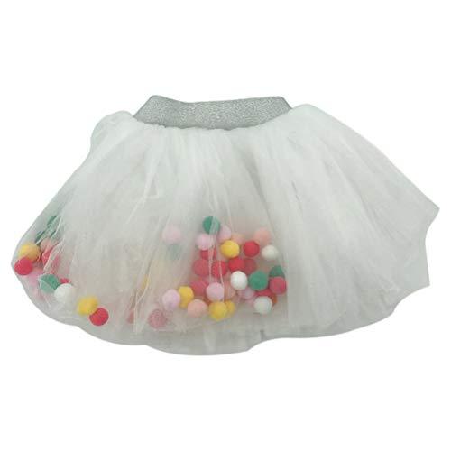 KODORIA Baby Mädchen Tanz-Tutu Pettiskirt Tutu Rock Kleid Prinzessin Party Outfits, Größe L (weiß)