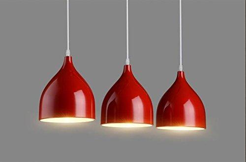 Ristorante Chandelier LED personalità creativa Ristorante Vento industriale Sala per tre moderni minimalista Bar Lampadari ( colore : Rosso )